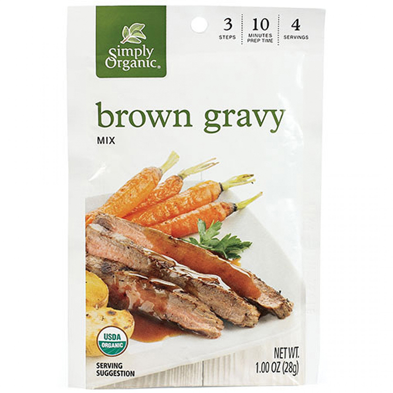 SIMPLY ORGANIC - BROWN GRAVY MIX - GLUTEN FREE - 1oz