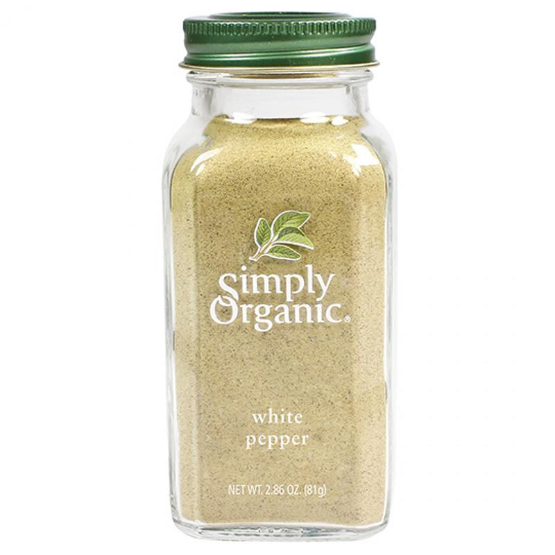SIMPLY ORGANIC - SEASONING - (White Pepper) - 2.86oz