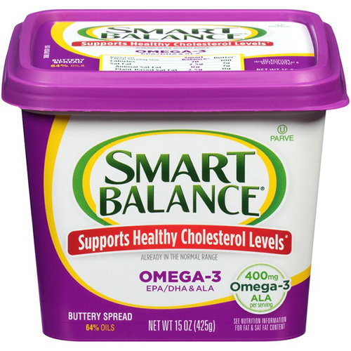 SMART BALANCE - BUTTERY SPREAD 64% OILS OMEGA 3 - 15oz