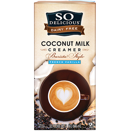 SO DELICIOUS - DAIRY FREE COCONUT MILK CREAMER - (French Vanilla) - 32oz