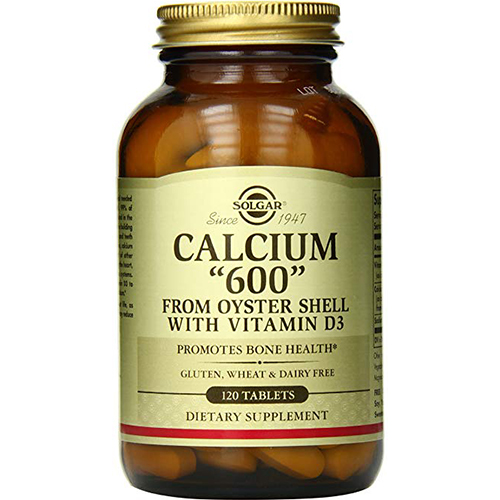 SOLGAR - CALCIUM 600 FROM OYSTER SHELL WITH VITAMIN D3 - 120SOFTGELS