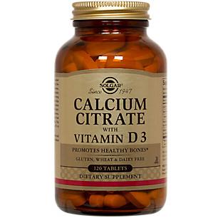 SOLGAR - CALCIUM CITRATE /WITH VITAMIN D3 - 120SOFTGELS