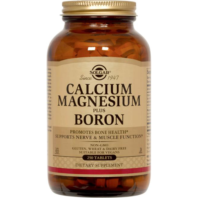 SOLGAR - CALCIUM MAGNESIUM PLUS BORON - 250 Tablets