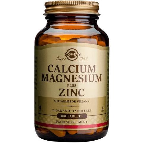 SOLGAR - CALCIUM MAGNESIUM PLUS ZINC - 100SOFTGELS