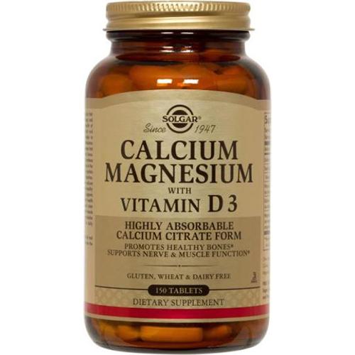 SOLGAR - CALCIUM MAGNESIUM WITH VITAMIN D3 - 150SOFTGELS