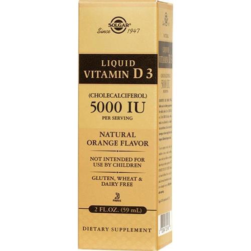 SOLGAR - LIQUID VITAMIN D3 (CHOLECALCIFEROL) 125MCG 5000IU - 2oz