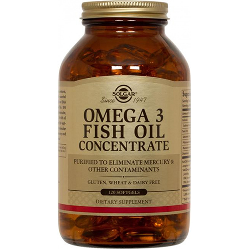 SOLGAR - OMEGA 3 FISH OIL CONCENTRATE - 120SOFTGELS