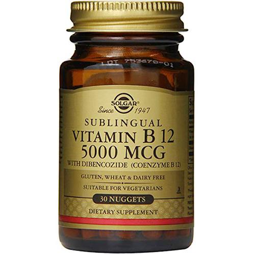 SOLGAR - SUBLINGUAL VITAMIN B12 5000MCG - 30NUGGETS