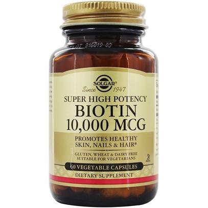 SOLGAR - SUPER HIGH POTENCY BIOTIN 10000 MCG - 60 VEGE CAPTULES