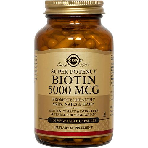 SOLGAR - SUPER POTENCY BIOTIN 500 MCG - 100 VEGE CAPTULES