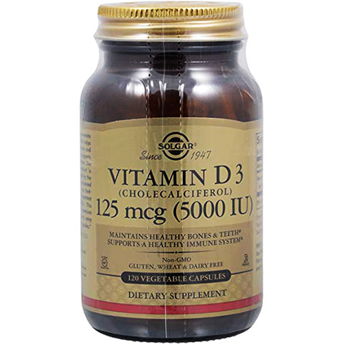 SOLGAR - VITAMIN D3 (CHOLECALCIFEROL) 125MCG 5000IU - 100SOFTGELS