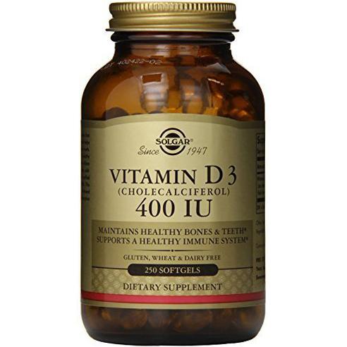 SOLGAR - VITAMIN D3 (CHOLECALCIFEROL) 400IU - 250SOFTGELS