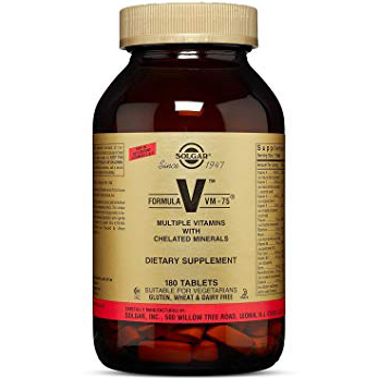 SOLGAR - VM-75 MULTIPLE VITAMINS  - 180 TABLETS
