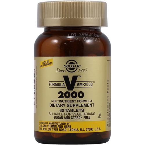 SOLGAR - VM-2000 MULTINUTRIENT FORMULA - 60 VEGE CAPSULES