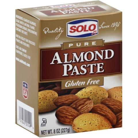 SOLO - ALMOND PASTE - GLUTEN FREE - 8oz
