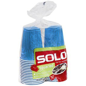 SOLO - SQUARED 18oz PLASTIC CUP (Blue)- 30 CUPS