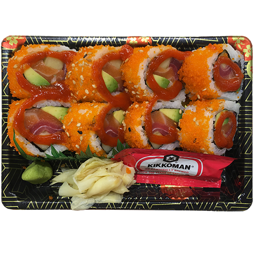 Spicy Tobikko Tuna Salmon Combo Roll