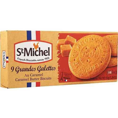 St MICHEL - 9 GRANDES GALETTES - (Caramel Butter Cookies) - 5.29oz