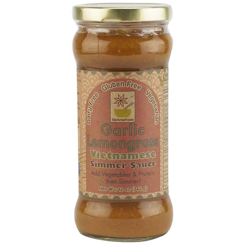 STAR ANISE FOODS - GLUTEN FREE - SIMMER SAUCE - (Garlic Lemongrass) - 12oz