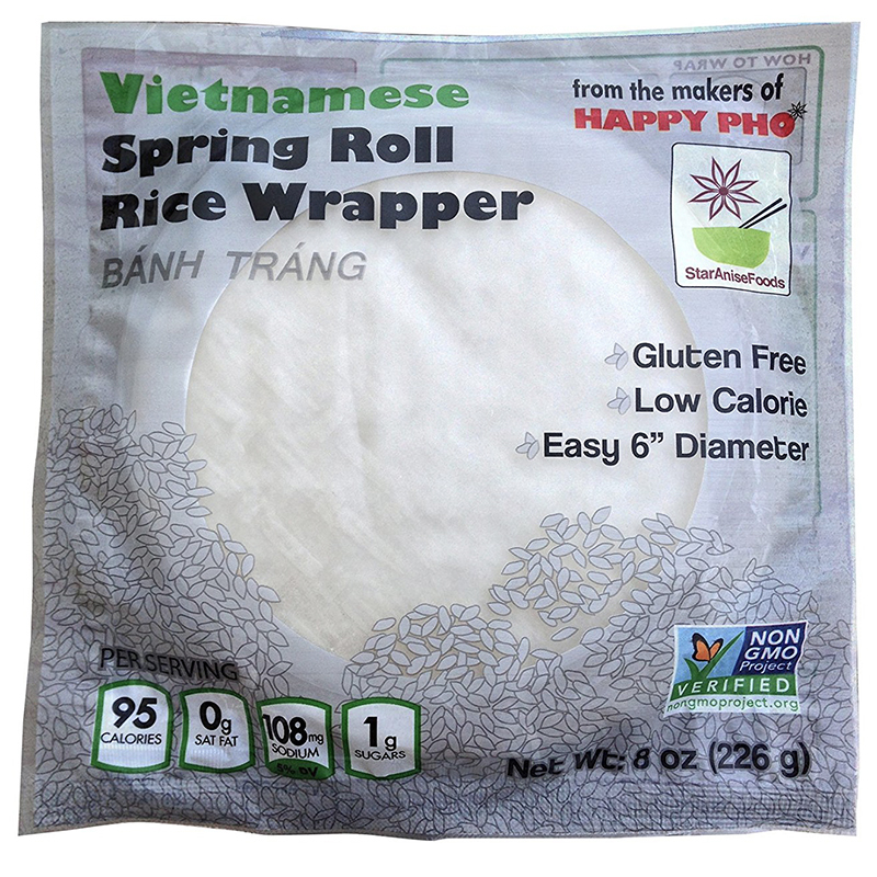 STAR ANISE FOODS - VIETNAMESE - SPRING ROLL RICE WRAPPER - NON GMO - 8oz