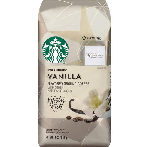 STARBUCKS - FLAVORED GROUND COFFEE - (Vanilla) - 11oz