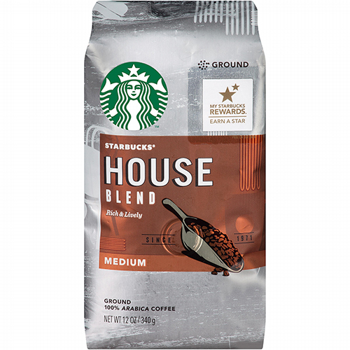 STARBUCKS - GROUND COFFEE- (House Blend   Medium) - 12oz