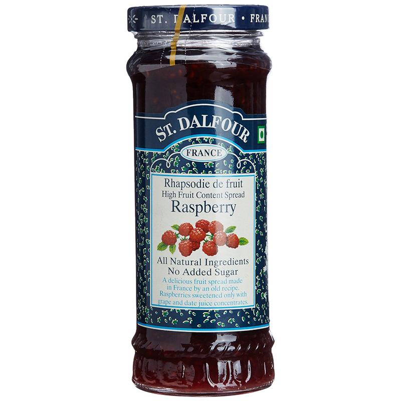 ST.DALFOUR - FRANCE RED RASPBERRY 100% FRUIT - NATURAL - NO SUGAR - NON GMO - 10oz