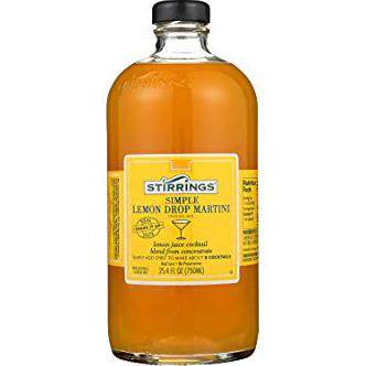 STIRRINGS - COCKTAIL MIX - (Simple Lemon Drop Martini) - 25.4oz
