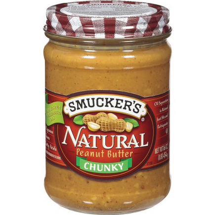 SUCKER'S - NATURAL PEANUT BUTTER - (Chunky) - 16oz