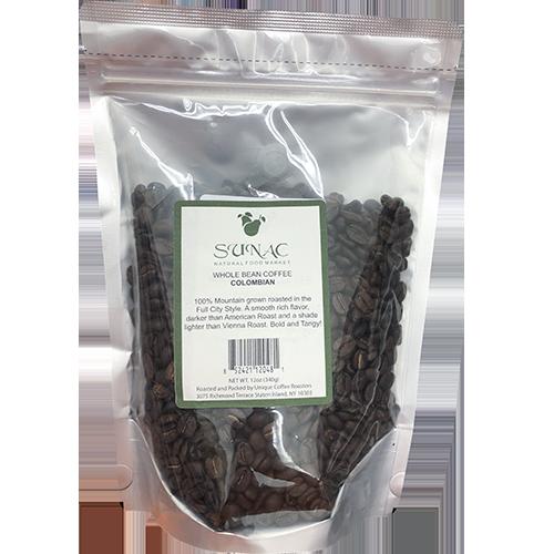 SUNAC - WHOLE BEAN COFFEE - (Colombian) - 12oz