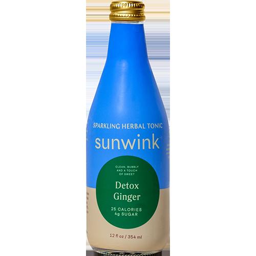 SUNWINK - SPARKLING HERBAL TONIC (Detox Ginger) - 12oz