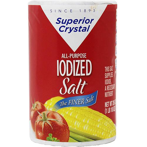 SUPERIOR CRYSTAL - ALL PURPOSE IODIZED SALT - 26oz