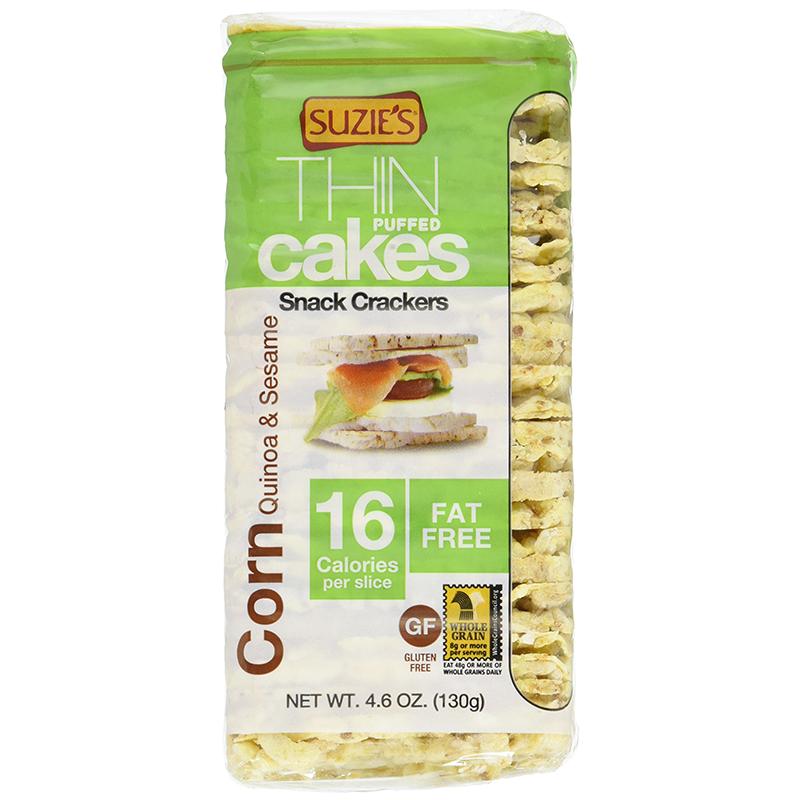 SUZIE'S - ORGANIC THIN PUFFED CAKES - CORN Quinoa&Sesame 16c - 4.6oz