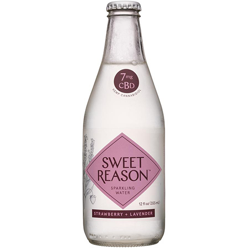 SWEET REASON - 7mg SPARKLING WATER - (Strawberry + Lavender) - 12oz
