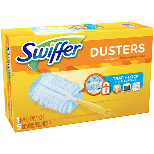 SWIFFER - DUSTERS TRAP+LOCK MULTI SURFACE - 1 HANDLE & 5 DUSTERS