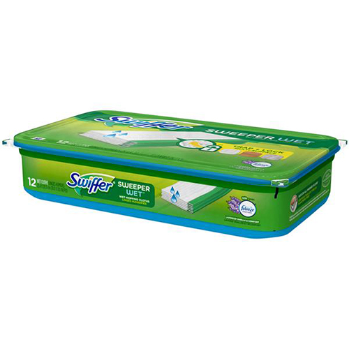 SWIFFER - SWEEPER WET TRAP+LOCK MULTI SURFACE - (Lavender Vanilla) - 12counts