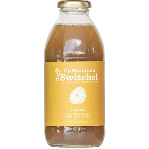 SWITCHEL - UP MOUNTAIN APPLE CIDER VINEGAR, MAPLE SYRUP & GINGER - (Lemon) - 16oz