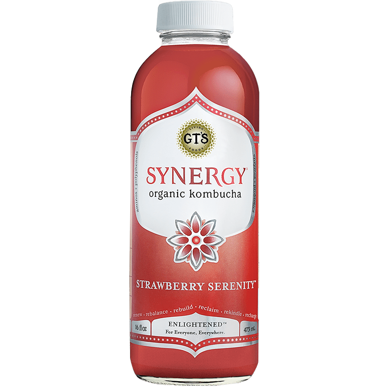 GTS - SYNERGE KOMPUCHA - (Strawberry Serenity) - 16oz
