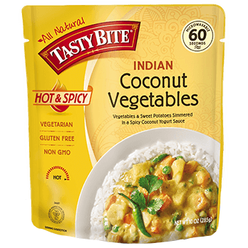 TASTY BITE - ALL NATURAL - GLUTEN FREE - NON GMO - (Coconut Vegetables) - 10oz
