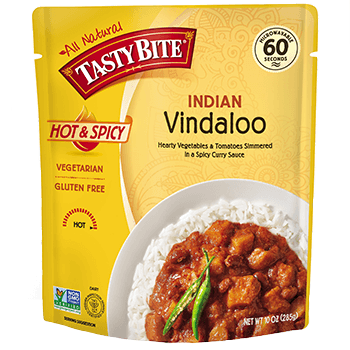 TASTY BITE - ALL NATURAL - GLUTEN FREE - NON GMO - (Vindaloo) - 10oz