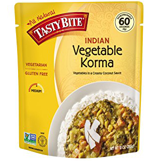 TASTY BITE - ALL NATURAL - VEGAN - GLUTEN FREE - NON GMO - (Indian Vegetable Korma) - 10oz