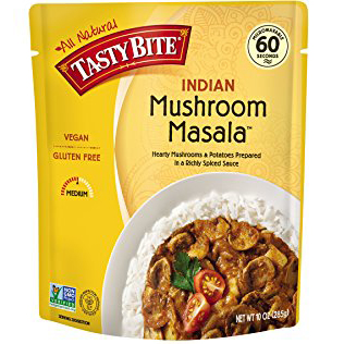 TASTY BITE - ALL NATURAL - VEGAN - GLUTEN FREE - NON GMO - (Mushroom Masala) - 10oz