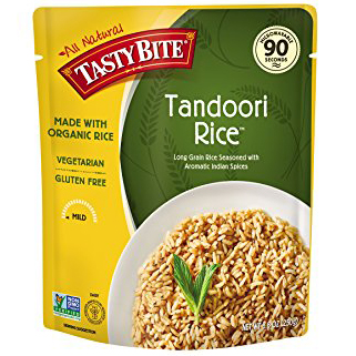 TASTY BITE - ALL NATURAL - GLUTEN FREE - NON GMO - (Tandoori Rice) - 8.8oz