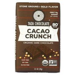 TAZA CHOCOLATE - CACAO CRUNCH - NON GMO - GLUTEN FREE - VEGAN - 2.5oz