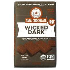 TAZA CHOCOLATE - WICKED DARK - NON GMO - GLUTEN FREE - VEGAN - 2.5oz