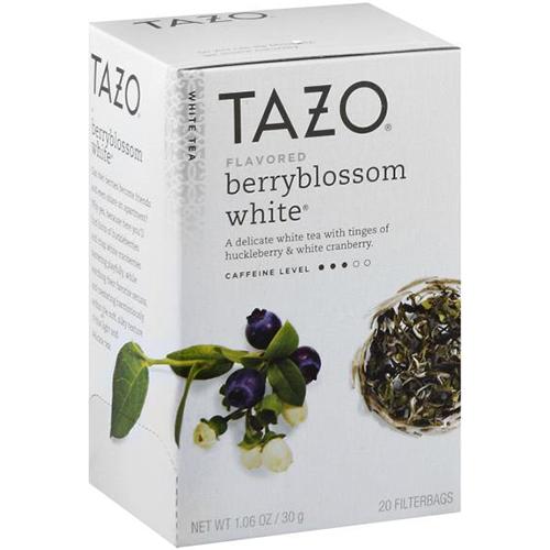 TAZO - WHITE TEA - (Berryblossom White) - 20 bags