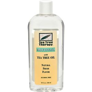 TEA TREE THERAPY - MOUTHWASH /W TEA TREE OIL - 12oz