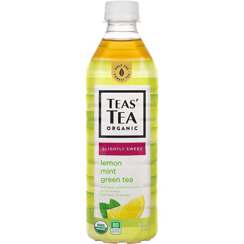 TEAS' TEA ORGANIC - (Lemon Mint Green Tea | Unsweetened) - 16.9oz
