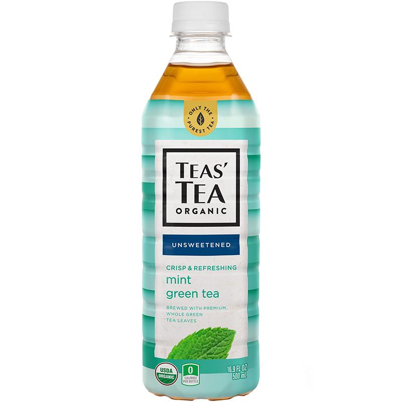TEAS' TEA ORGANIC - (Mint Green Tea | Unsweetened) - 16.9oz