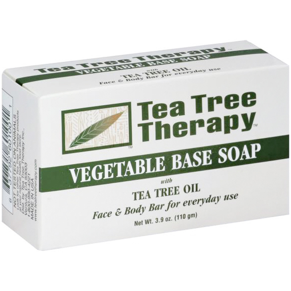 TEA TREE THERAPY - VEGETABLE BASE SOAP /W TEA TREE OIL - 3.9oz